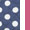 Navy/Hot Pink Dot