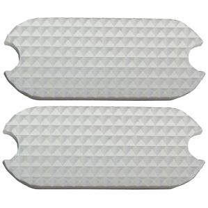 WHITE FILLIS STIRRUP PADS