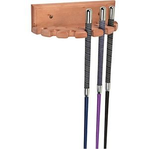 1/2 ROUND WOODEN WHIP RACK