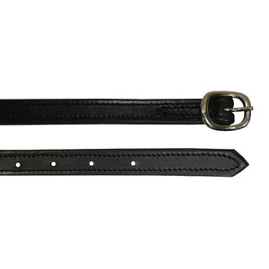 DBL-STITCH LEATHER SPUR STRAP