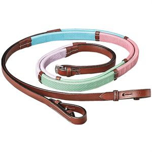 Pastel Rubber Training Reins