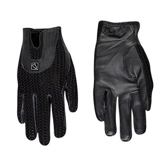 SSG Lycrochet Horseshoe Back Riding Gloves