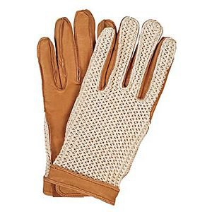 Ovation Crochet Back Riding Gloves with Velcro