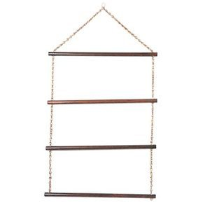 Wood/Brass Horse Clothing Rack
