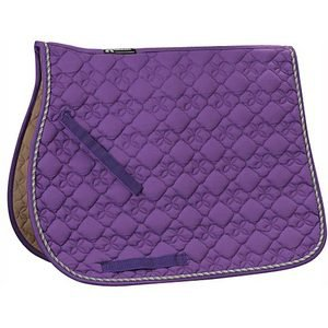 Roma Ecole Cotton Flower Quilted All Purpose Saddle Pad