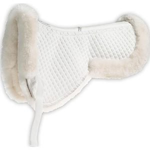 Roma Merino Sheepskin Half Pad with Half Rolled Edges