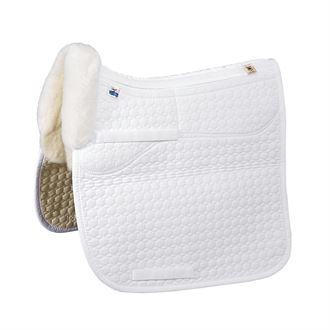 Mattes Gold Wool Correction Square Pad with Bare Flaps - Dressage