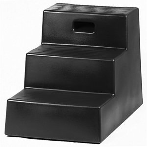 Black Three-Step Mounting Block