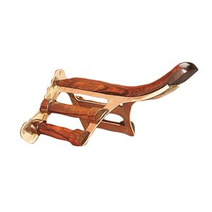 Brass & Wood Saddle Rack