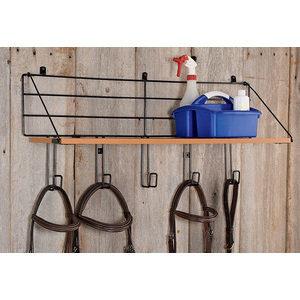 WOOD SHELF 5 HOOK