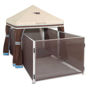 COMPLETE DOG PEN-STRGHT AWNING