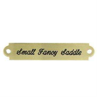 SM FANCY SADDLE PLATE
