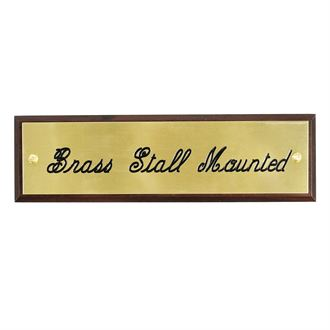 BRASS STALL PLATE WALNUT 1/2