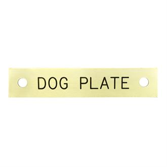 DOG PLATE RECTANGLE