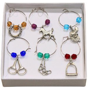 EQUESTRIAN WINE CHARMS