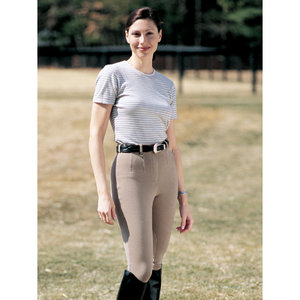 On Course Cotton Naturals Shapely Knee Patch Breeches