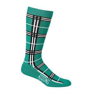 RIDING SPORT BAMBOO PLAID SOCK