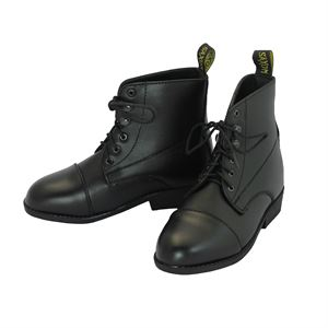 Childrens Saxon Equi-Leather Lace Paddock Boot