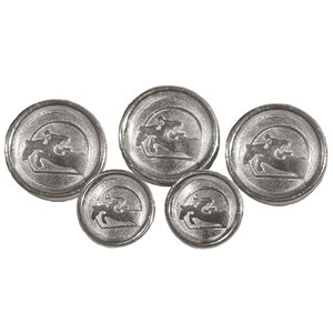 GRAND PRIX SILVER BUTTONS SET.