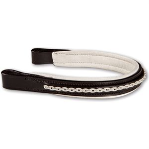 Crown Leather Overlay Browband