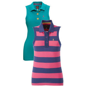 JOULES CHEEKY SLEEVELESS POLO