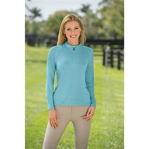 COOLBLAST SPACE DYE 1/4 ZIP LS