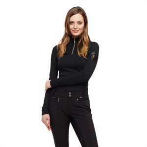 ARISTA ROUCHED WCKNG 1/4 ZIP T