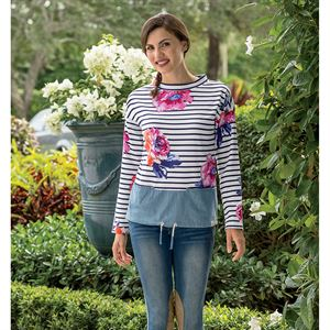 JOULES MARIANA FLORAL SWTSHRT