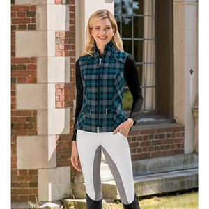 ARISTA PLAID LINED VEST W BIT
