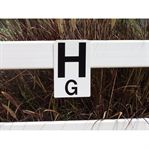 DRESSAGE RAIL LETTERS-SET OF 8