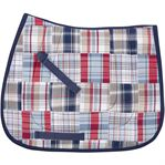 Madras Plaid All-Purpose Saddle Pad