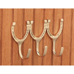 Solid Brass Triple Horseshoe Hook