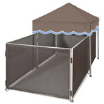 COMPLETE DOG PEN- DBL AWNING