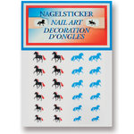 GLITTER NAIL STICKERS