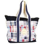 Equine Couture Patchwork Plaid Tote