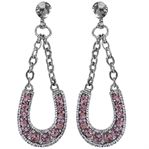 RHINESTONE HORSESHOE EARRINGS