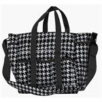 HOUNDSTOOTH LARGE STABLE TOTE