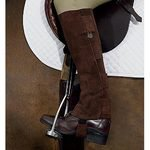 Kids Ovation Suede Ribbed Half Chaps with Hook and Loop Tabs