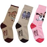 Riding Sport Three-Pack Pony Girl's Socks
