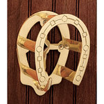 Solid Brass Horseshoe Bridle Bracket