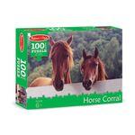 HORSE CORRAL 100 PIECE PUZZLE