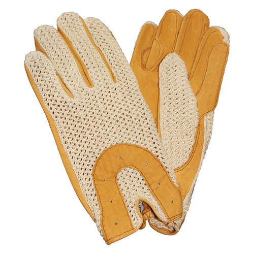 Ladies Ovation Crochet Back Riding Gloves