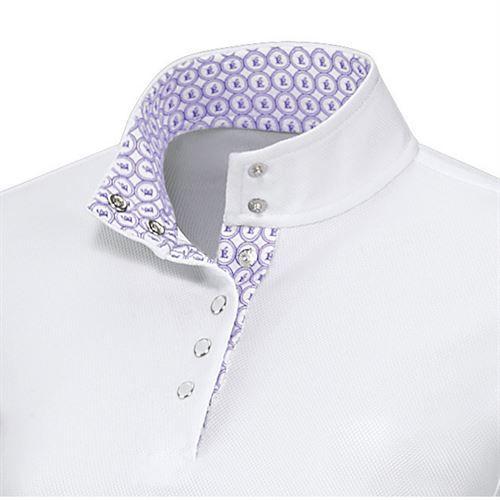 White/Lilac/Pearl Button