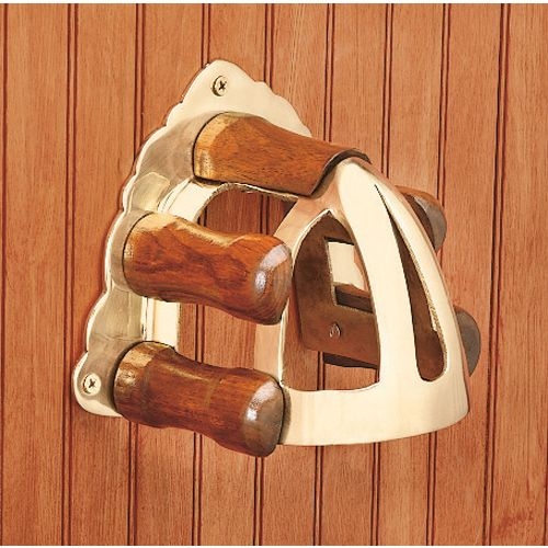 BRASS WOOD BRIDLE BRACKET