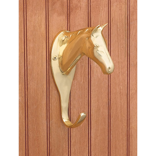 LARGE HORSEHEAD HOOK - BRASS