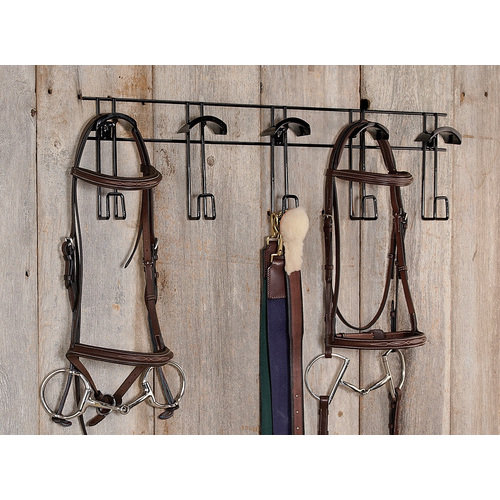 5 Hook/Half-Moon Bridle & Tack Rack