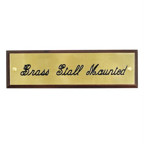 BRASS STALL PLATE MOUNTED-3