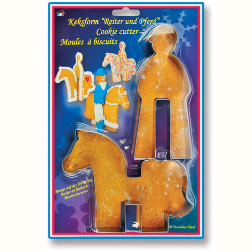 Horse and Rider Cookie Cutter