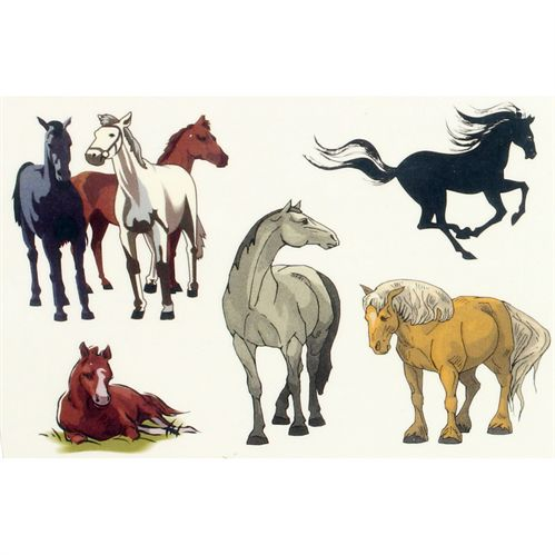 HORSE TATTOOS-COLORS