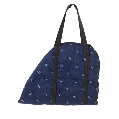 CNTR EMBROIDERED SDDL CRRY BAG